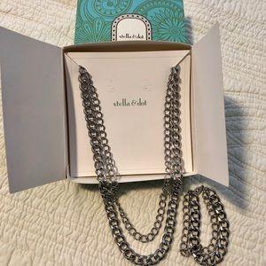 Stella & Dot Jewelry - Stella & Dot LA Coco Silver Curbchain & Bracelet